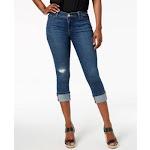 Lee Womens Blue Cuffed Capri Jeans Petites