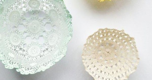 DIY Room Decor: Lace Doily Bowls — Apartment Therapy Tutorials