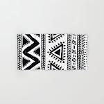 Tribal black and white Hand & Bath Towel by mmartabc - Hand Towel