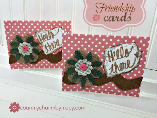 ♥ Friendship Card | A Simple Way to make them FAST! ♥