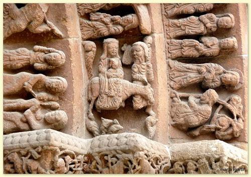 Detalle de la portada de Santo Domingo. Soria