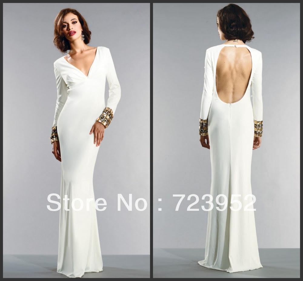 Long sleeve evening dress maxi