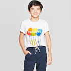 petiteBoys' Short Sleeve Graphic T-Shirt - Cat & Jack White