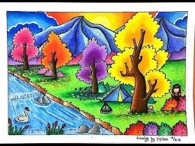 Gambar Pemandangan Gunung Warna