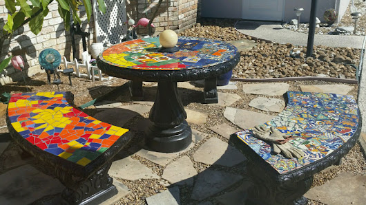 Glass or Ceramic Tile for Mosaic Patio Table?