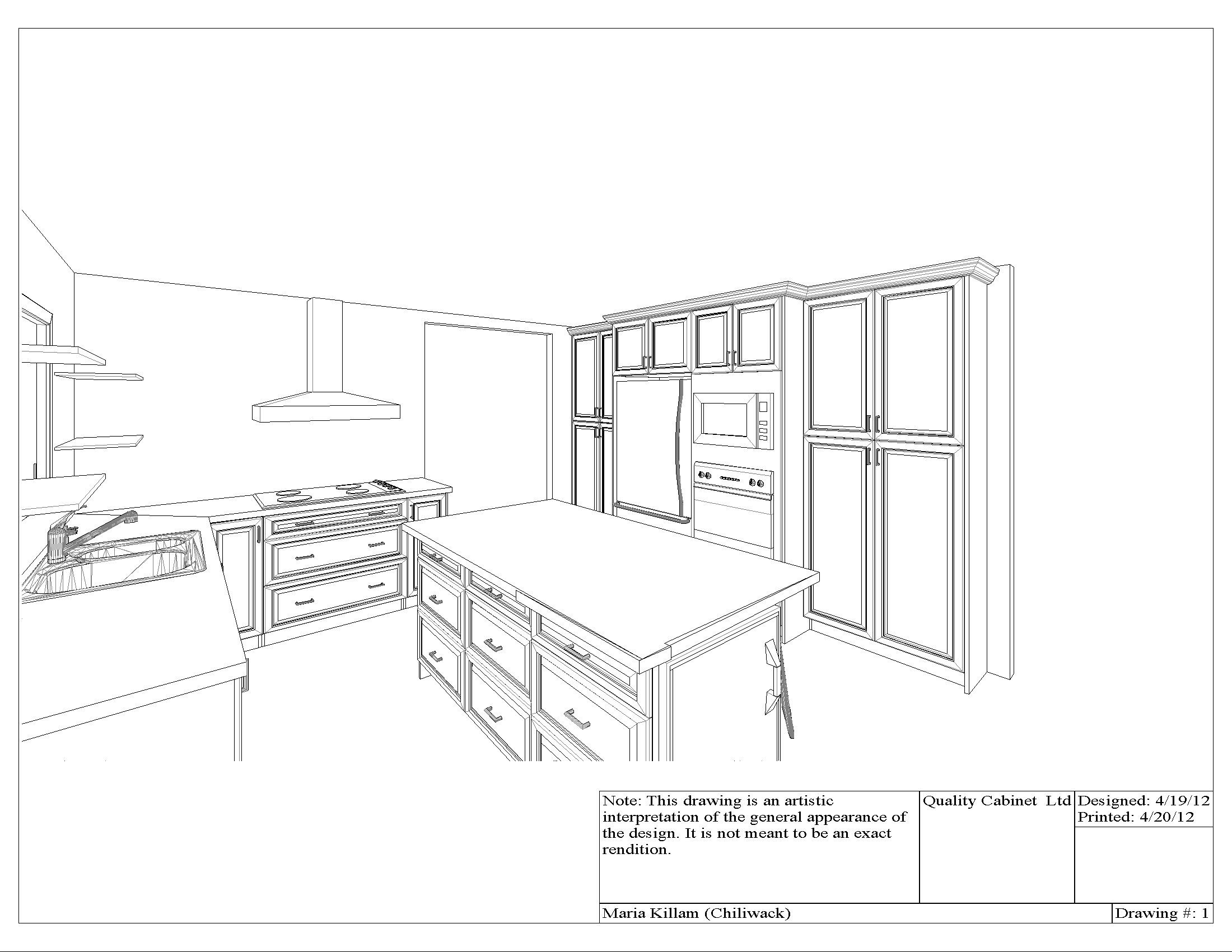 Kitchen Cabinet Drawing at GetDrawings | Free download