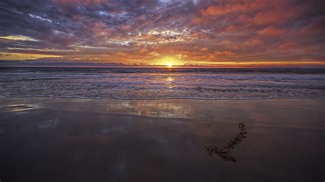 full hd wallpaper hermosa beach sunset red clouds desktop
