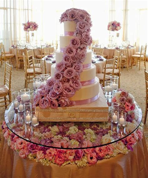 Jamaican Wedding Reception Ideas   Stylish Lavender Cake
