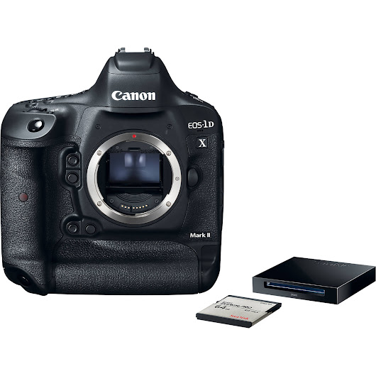 EOS-1D X Mark II DSLR Camera Premium Kit with 64GB Card and Reader
