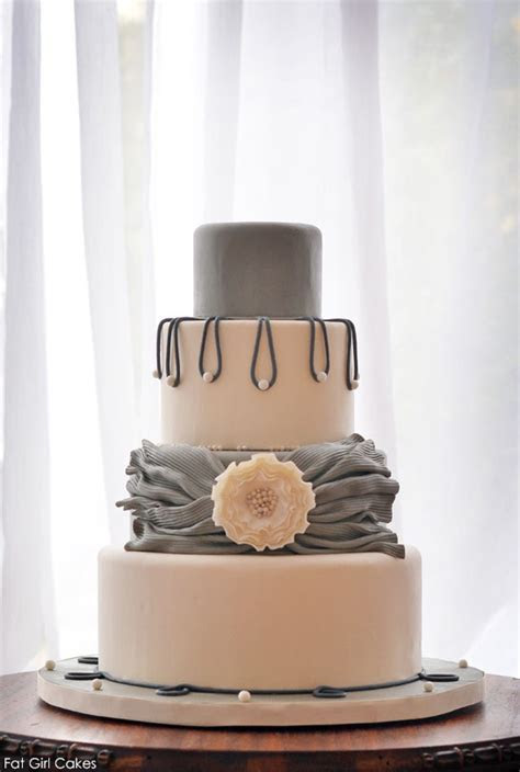 Pearlescent Shades of Gray Cake   The Cake Blog