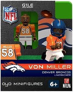 Amazon.com : Von Miller NFL Oyo Mini Figure Lego Compatible Denver Broncos : Sports Fan Toy