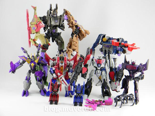 Transformers Starscream Deluxe - Generations Fall of Cybertron - modo robot vs otros Decepticons FoC