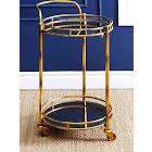 Abbyson Marriot 2-Tier Cylinder Bar Cart (Gold)
