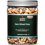 Unsalted Raw Deluxe Nuts - 30oz - Archer Farms , Adult Unisex