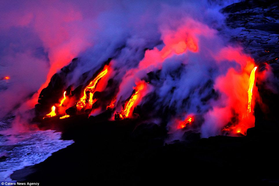 Bursts of colour: The indigenous culture of Hawaii is based around their life beside the active volcanoes