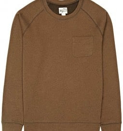 Reiss Bruno Crew Sweat Bitter