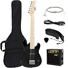 """Best Choice Products 30"""" Kids Electric Guitar Kit w/ 5W Amp (Black)"""