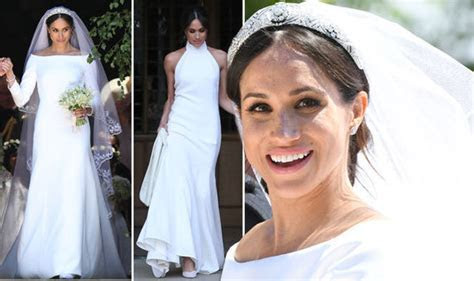 Meghan Markle wedding dress: Second and first royal