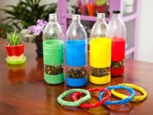 brinquedos reciclados garrafa pet criancas artes escola artesanato painel criativo 3