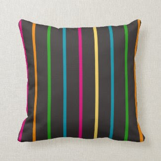 Arty Pillow with Graphic Line Art