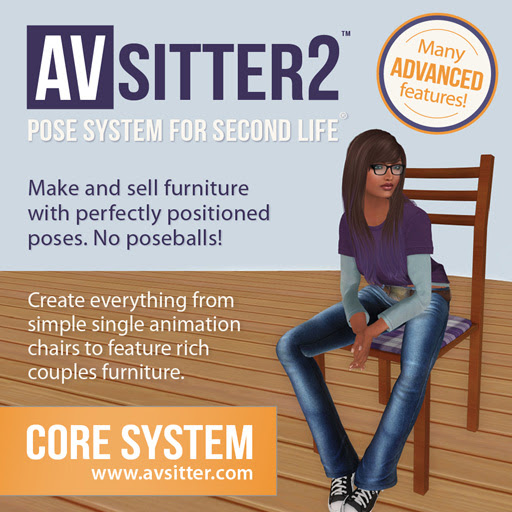 AVsitter™ Pose System for Second Life®