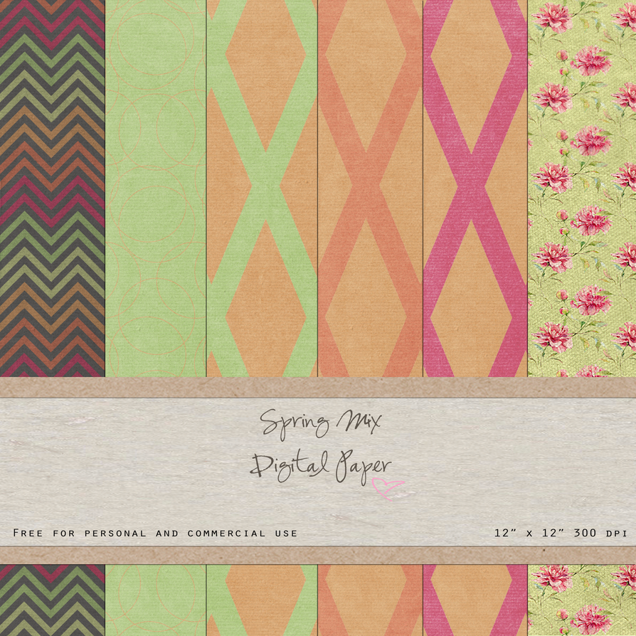 FREE Digital Paper Pack Spring Mix by SunnyFunLane