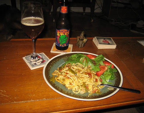 Beer & Baked Spaghetti