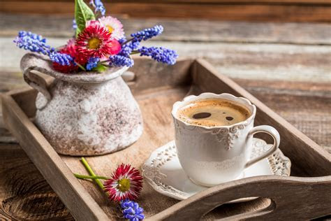 Images Coffee Flowers Cup Food Vase Closeup Drinks 5614x3743