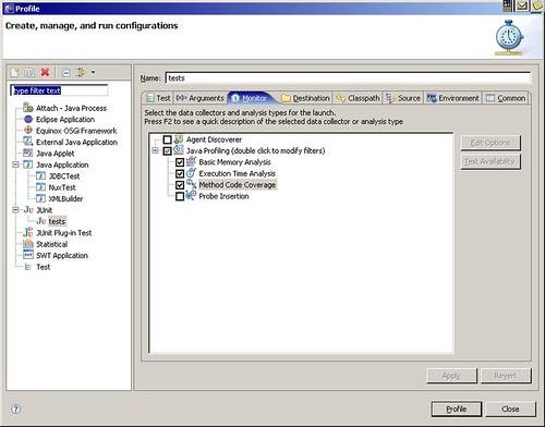 Eclipse TPTP profiling - 2
