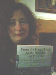 The Dr and her book, From the Harpy Tomb
