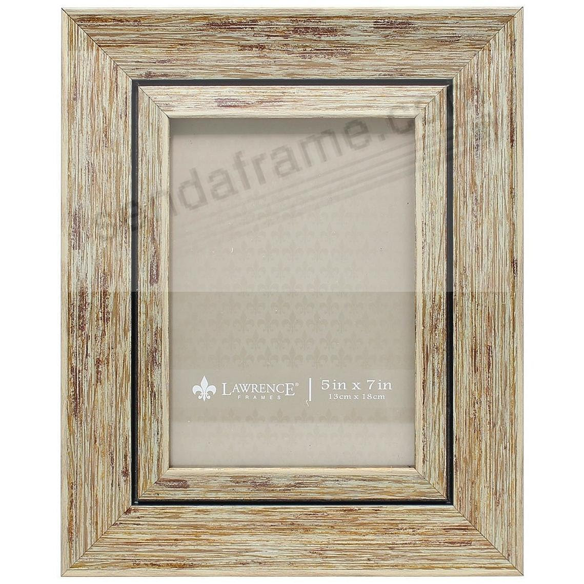 Weatheredantique Natural Angled Wood 5x7 Frame By Lawrence