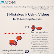 5 Mistakes in Using Videos for eLearning Courses Infographic - e-Learning Infographics