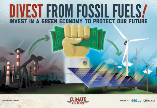 Divest! Banks and institutions dumping dirty fossil fuel money - Red, Green, and Blue