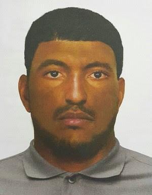 Suspeito é moreno, aparenta ter 40 anos e tem aproximadamente 1,70 metro de altura (Foto: Divulgação/Polícia Civil)