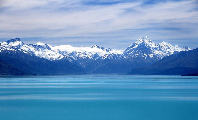 Mount Cook across the lake