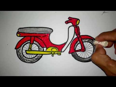Cara Menggambar Sepeda Motor Bebek Youtube On Repeat