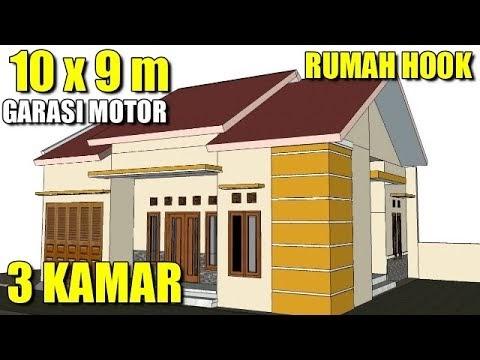 konsep desain rumah minimalis sederhana 10 x 9 meter 1