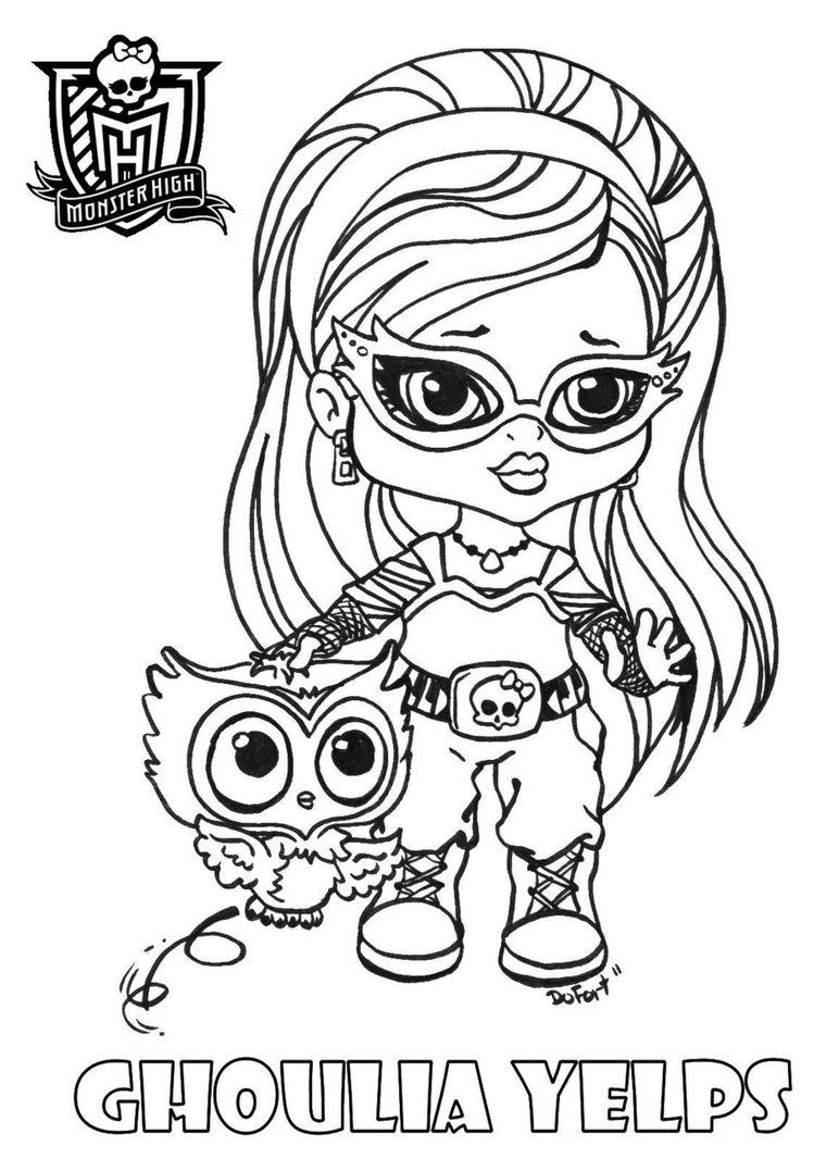 amazing all about monster high dolls baby monster high character free with coloriage monster high