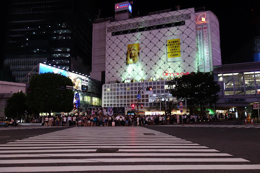 TOKYO - Shibuya by night - family trips on the road