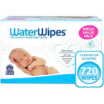 WaterWipes Unscented Baby Wipes Mega Value Box - 12pk/720ct Total