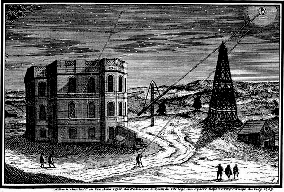 An engraving of the Paris Observatory during Cassini's time. Credit: Public Domain