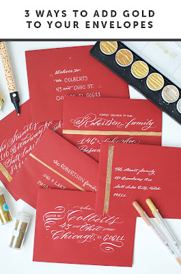 DIY: 3 Ways to Add Gold to Your Envelopes