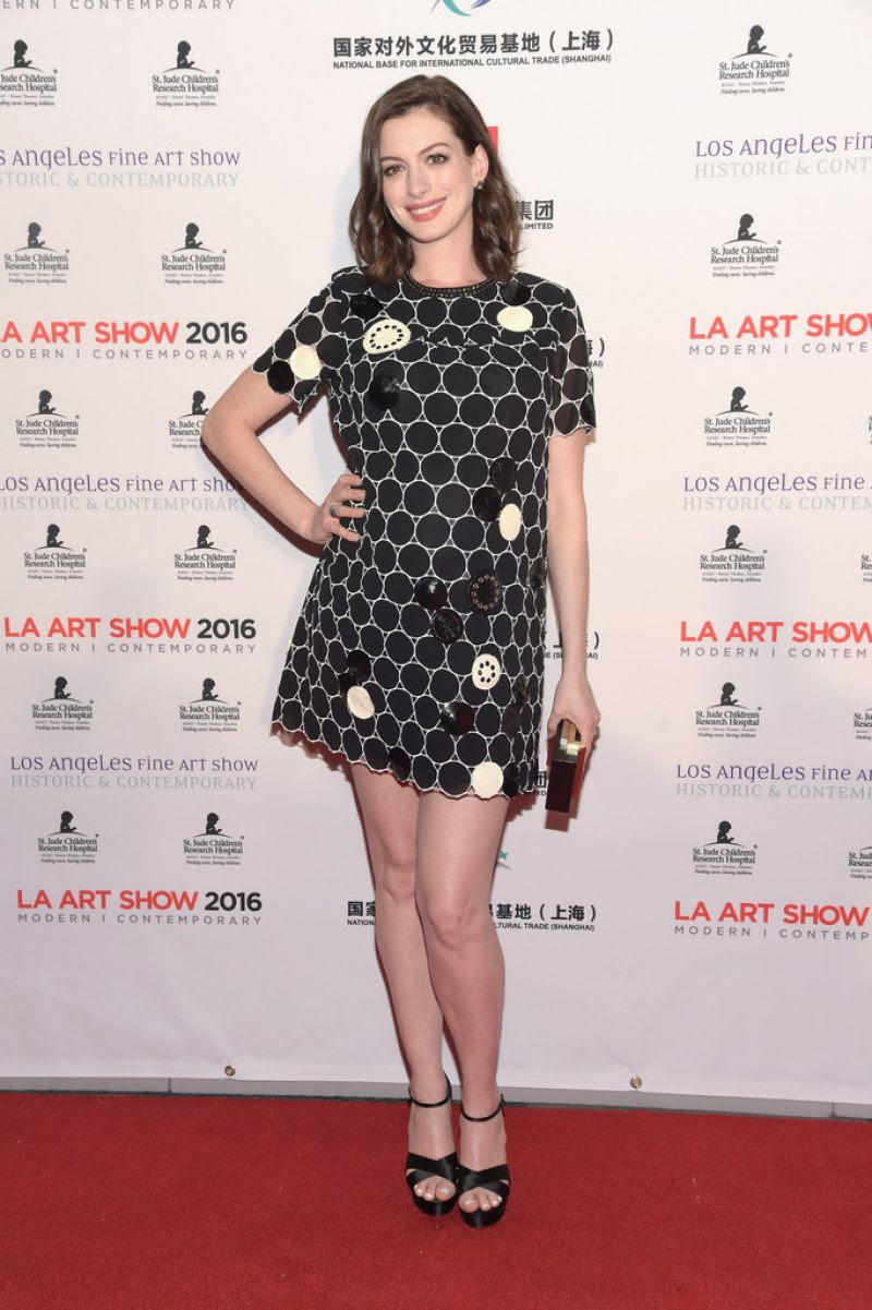 ANNE HATHAWAY at LA Art Show and Los Angeles Fine Art Show