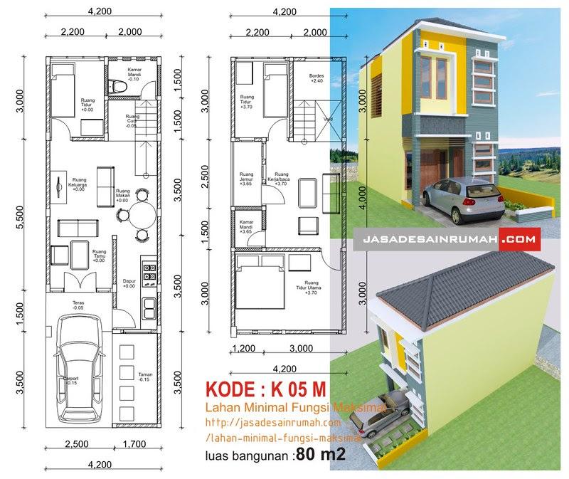 Lahan Minimal Fungsi Maksimal @ Jasa Desain Rumah