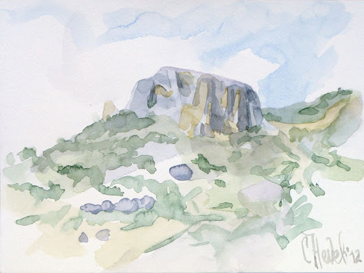 A Hill near Ilindentsi 2 (2012) Watercolor by Slav Nedev