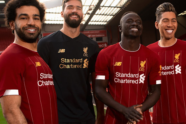 cfaea00d New Balance Brings Back White Stripes for Liverpool 2019/20 Home Kit
