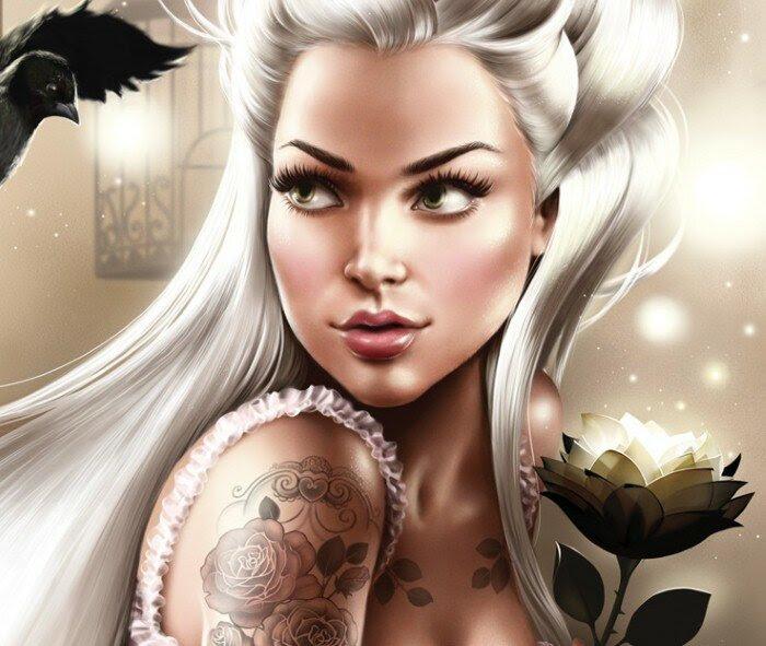 Татуированные женщины. Tati Ferring