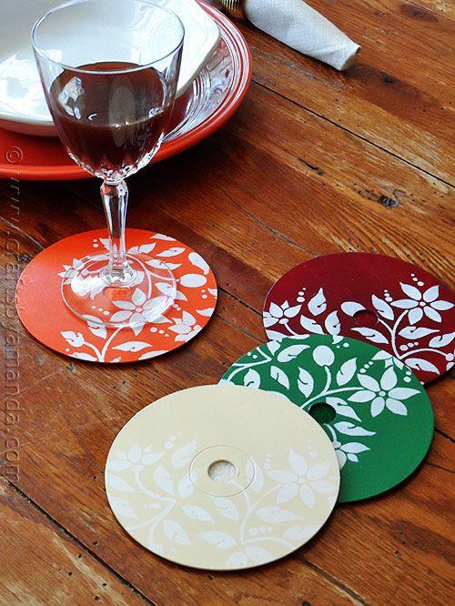 porta copos com CD