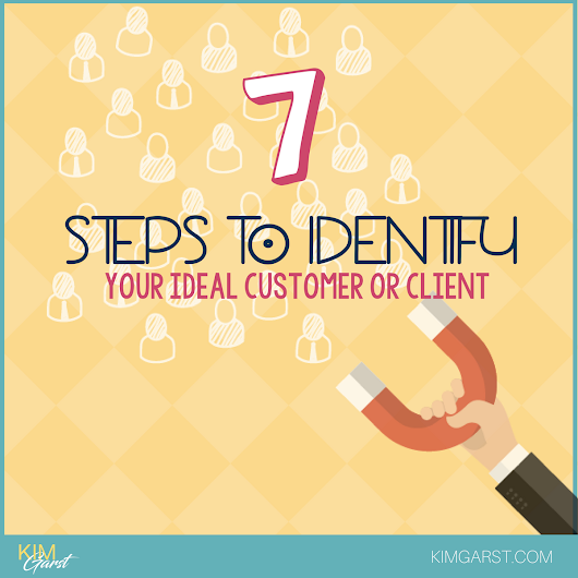 7 Steps To Identify Your Ideal Customer or Client - Kim Garst | Marketing Strategies that WORK