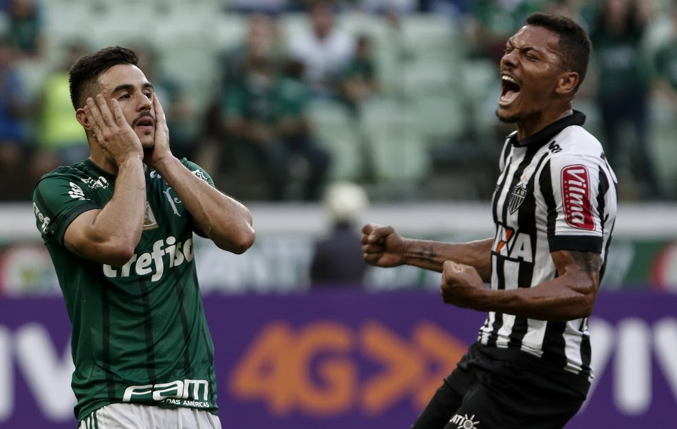 Palmeiras e Atlético-MG ficaram no empate por 0 a 0, em São Paulo (Foto: Miguel Schincariol / Estadão Conteúdo)
